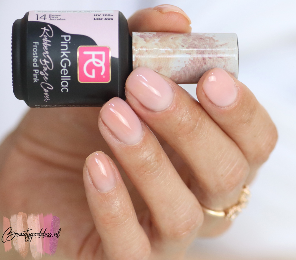 Pink Gellac Rubber base cover Frosted Pink