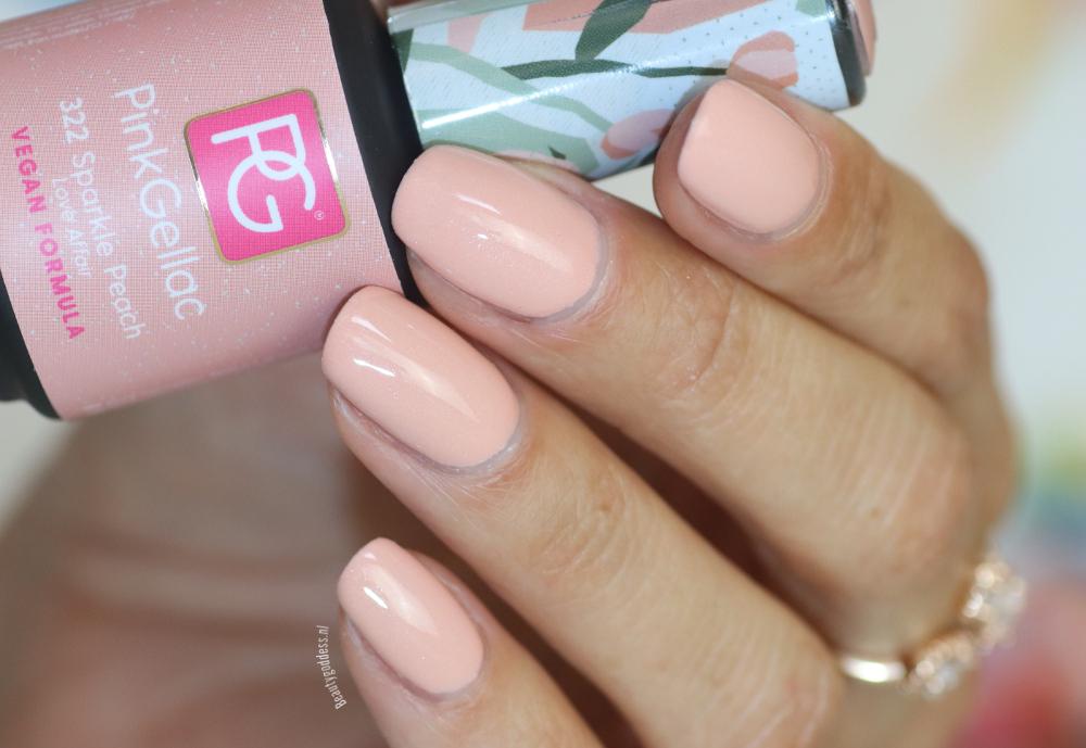 Pink Gellac Sparkle Peach
